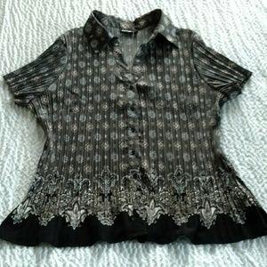 (New) Apt. 9 Gray and Black Shirt 2X